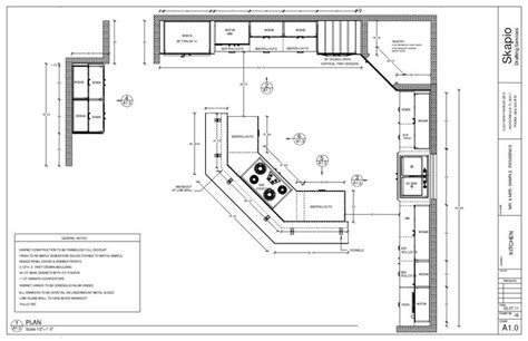 Floor Plans For Kitchens by Sample Kitchen Floor Plan Shop Drawings Pinterest