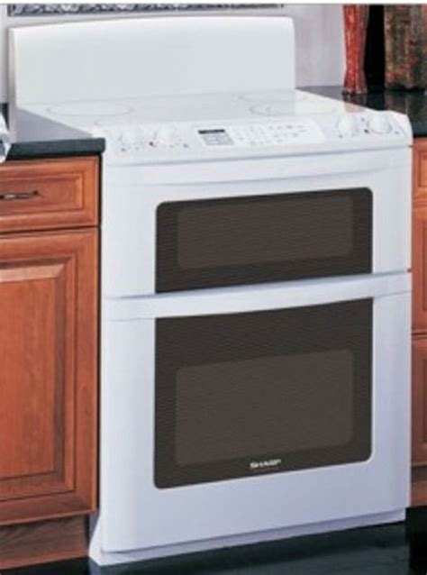 sharp kb3425lw freestanding electric range with microwave