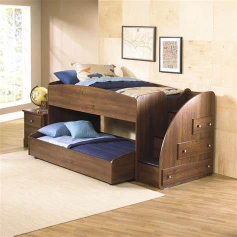 Trundle Bunk Bed With Storage Mid Height Loft Bed With Trundle Right Facing Storage Stairs By Standard Furniture
