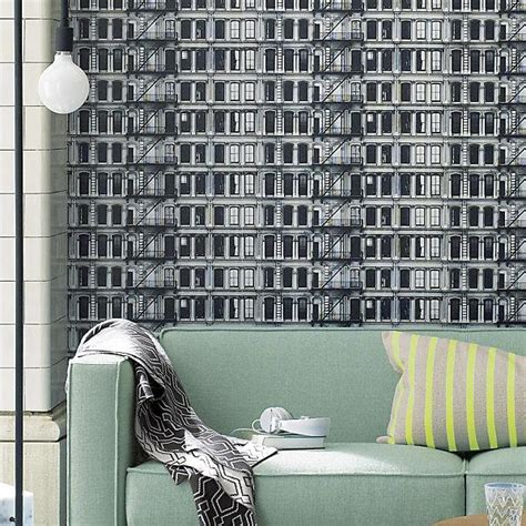 cb2 removable wallpaper facade self adhesive wallpaper cb2
