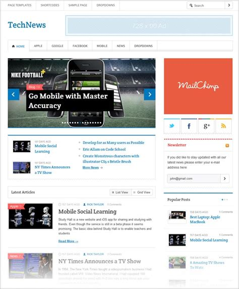 25 Free Premium Responsive Magazine Wordpress Themes For 25 Free Responsive Magazine