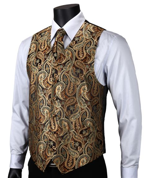 Vest Hoodie Jaket Rompi Golds Fightmerch ve14 gold brown paisley top design wedding 100 silk waistcoat vest pocket square cufflinks