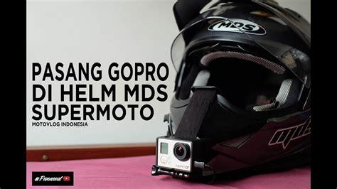 tutorial memakai gopro xiaomi tutorial cara pasang gopro xiaomi yi di helm mds