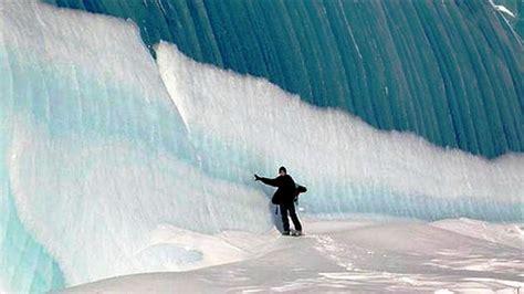Frozen Waves Wallpaper | antarctica frozen waves wallpaper hd wallpapers