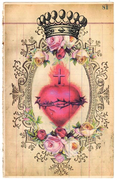 catholic tattoos my sacred vintage paper collage sacred