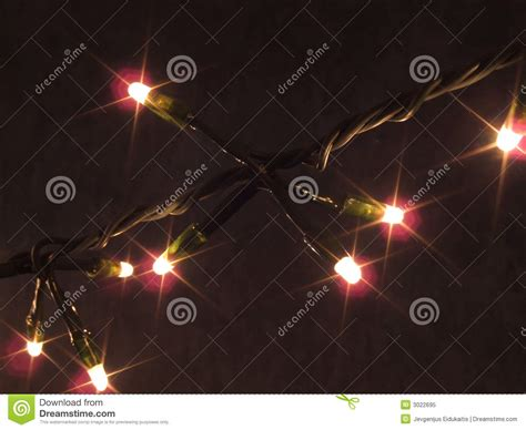 christmas lights strand stock image image of dark