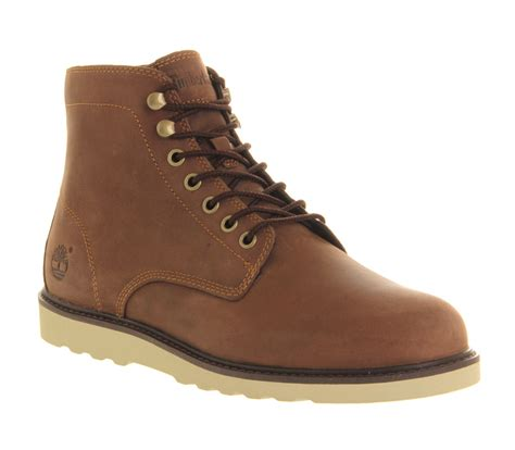 timberland mens leather boots mens timberland ek newmarket wedge boot brown