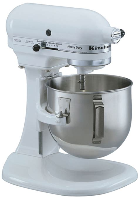 kitchenaid 5k5sswh heavy duty lift bowl mixer white 220 volt