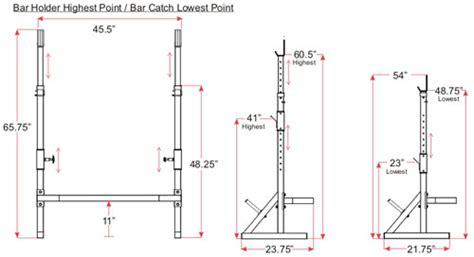 standard bench press bar length squat rack dimensions cosmecol