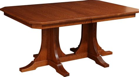 double pedestal dining room tables amish copper canyon mission double pedestal dining room table