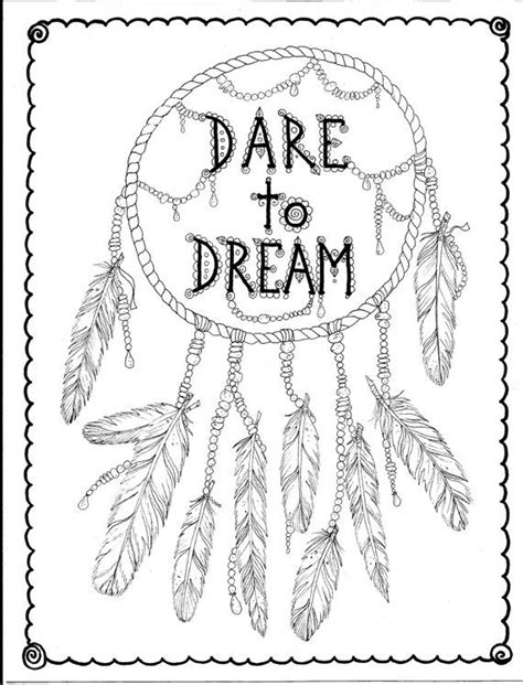 free printable coloring pages dream catchers instant download hand drawn dreamcatcher coloring page