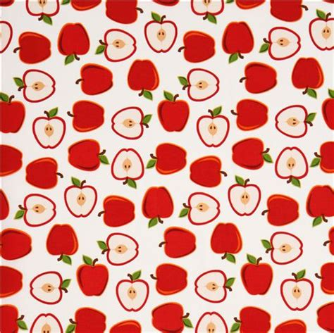 pattern apple background white apple fruit fabric by robert kaufman from the usa