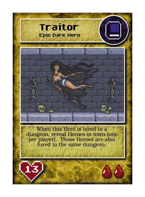 seducia traitor custom card brotherwise games boss