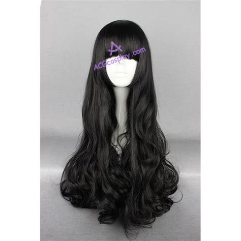 Wig 70 Cm Tsn rwby wig black wavy 70cm 28inches