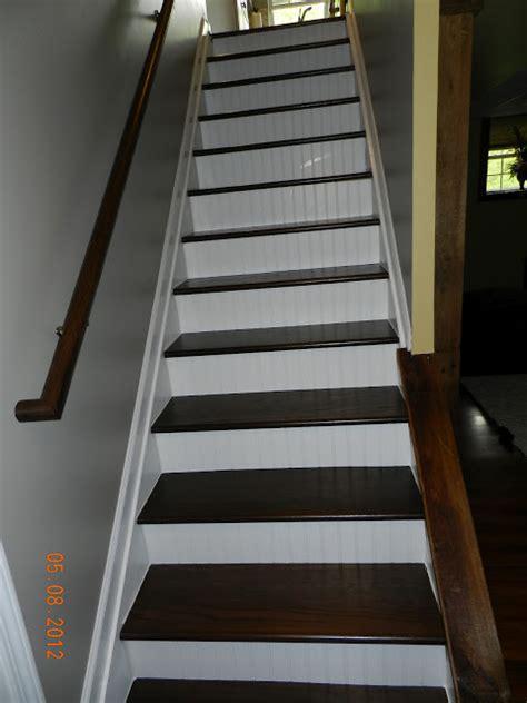 beadboard staircase giraffe legs staircase redo