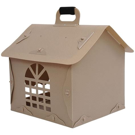clearance dog houses pawhut portable dog house gray