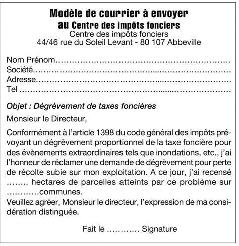 Exemple De Lettre Demande De Grace Impot Modele Lettre Degrevement Impot Foncier