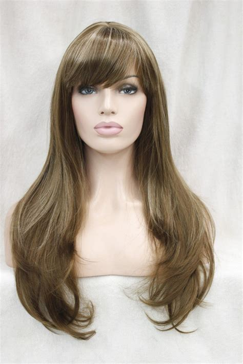 long light brown hair wig 0002629 beautiful light brown w blonde highlight straight