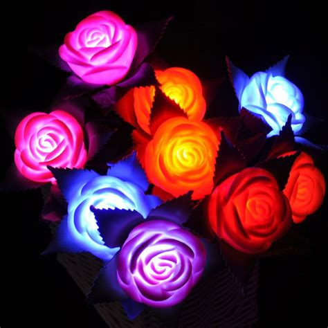 Led Roses Lights Up Mothers Day by 2018 Shaped Led Light Flowers Wedding Favors