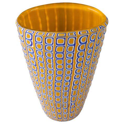 Yellow Blue Vase by Massimiliano Pagnin Quot Bibe Quot Murano Vase White Yellow Blue