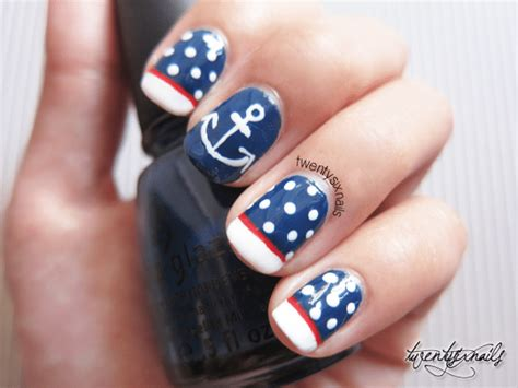 Nautical Nail Designs attractive design of nautical nail be modish