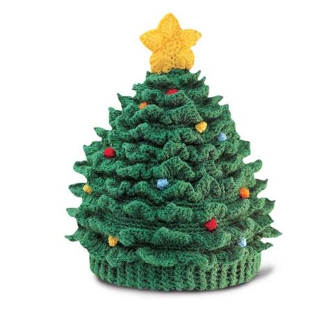 festive christmas tree hat i love to crochet pinterest