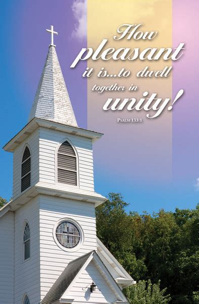 """Church Bulletin 11""""   Special Occasion   Unity (Pack of 100)"""