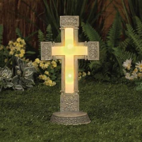 solar light cross for solar powered large cross garden memorial