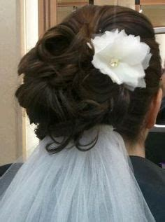 Wedding Updo With Veil Underneath by Wedding Hair And Make Up On Veils Wedding