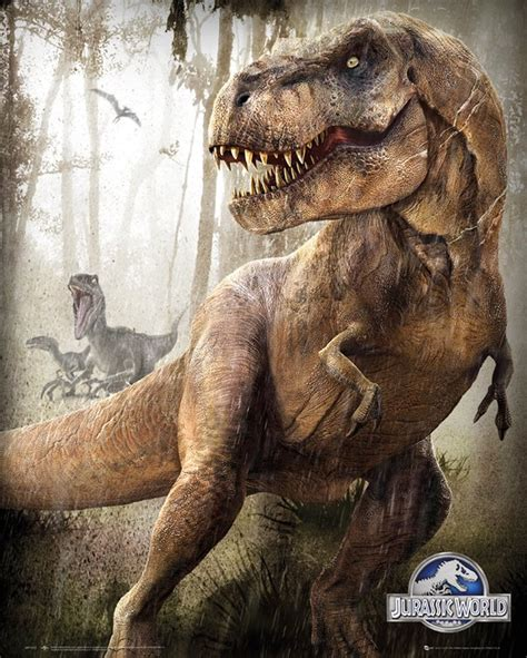 dinosaurus in film jurassic world t rex and indominus rex posters movieweb