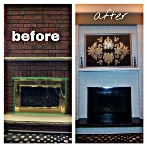 reved brass school fireplace brick paint and