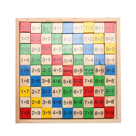 math pattern board games wooden math dominoes toy double side printed