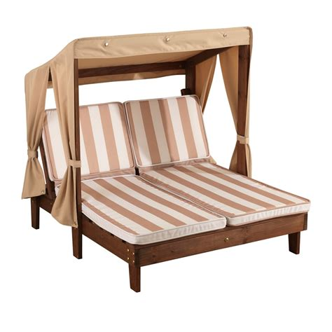 kidkraft chaise lounge kidkraft double chaise oatmeal white stripes
