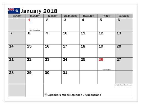 printable queensland calendar 2015 calendar january 2018 queensland