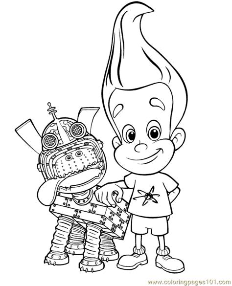 coloring book genius jimmy neutron coloring pages