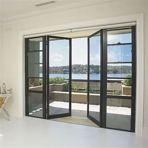 Metal Sliding Glass Doors Modern Door With Solid Steel Thin Frame For Easily Replacement And Clear Glasses Is Used