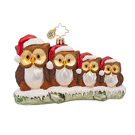 christopher radko ornaments 2016 radko owl in the family
