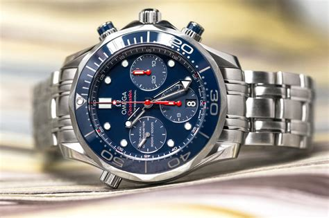 Omega Seamaster Chronograph Leather Quality Premium 2016 best omega replica watches high quality omega constellation replica watches for sale