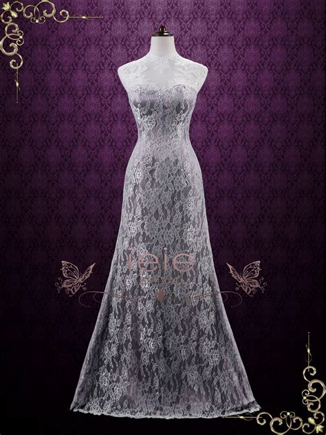 Wedding Hair For Keyhole Back Dress by Vintage Purple Lace Wedding Dress With Keyhole Back