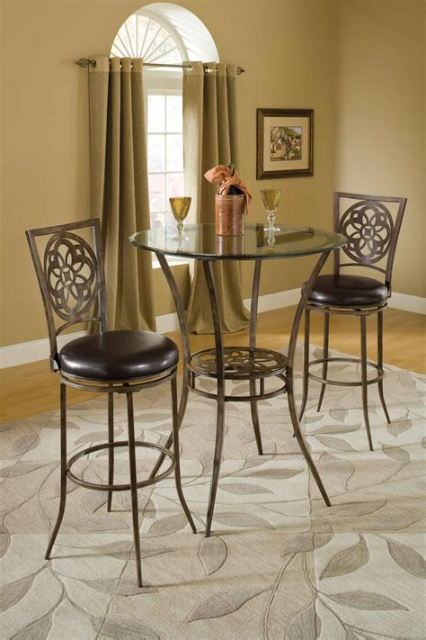 Hillsdale Marsala 3 Piece Bistro Dining Set Gray Bistro Dining Table Sets