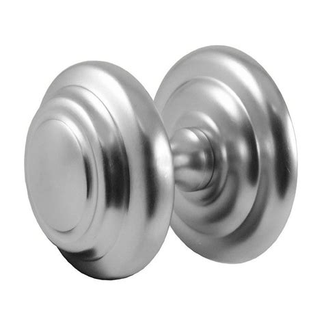 Satin Chrome Door Knobs by Satin Chrome Centre Door Knob On Jv57sc