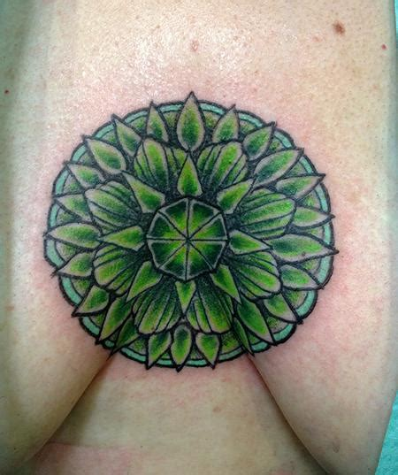 tattoo healing green heart chakra tattoo