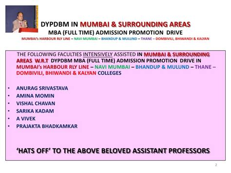 Mba Entrance Coaching Classes In Navi Mumbai by Dypdbm In Mumbai Surrounding Areas