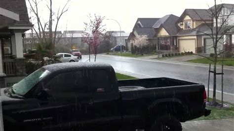 crazy weather in langley bc youtube