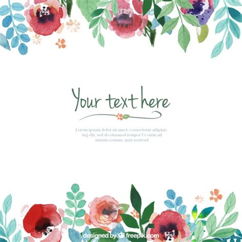 flower design templates hand painted flowers template vector free download