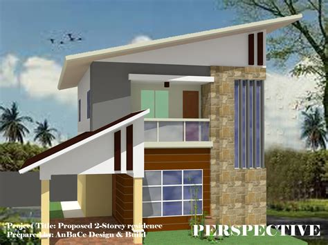 floor plan with perspective house 2 storey residence perspective la playa azul subdivision
