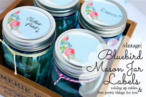 free printable ball jar labels raising up rubies blog vintage bluebird mason jar labels