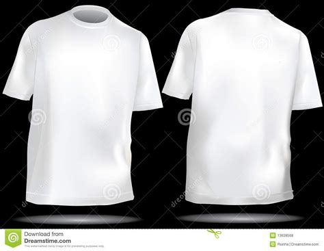 white t shirt front and back template t shirt template with front and back royalty free stock
