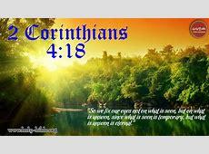 Bible Verse of the day – 2 Corinthians 4:18 | Holy Bible Hebrews 12:14