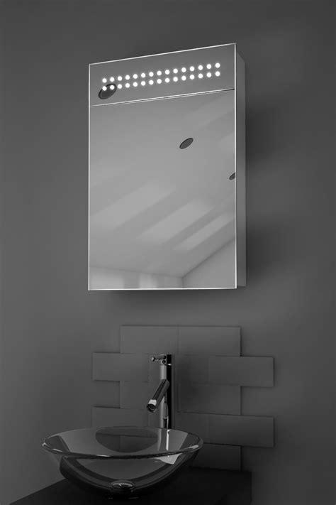 Led Illuminated Bathroom Mirror Led Illuminated Bathroom Mirror Cabinet With Sensor Shaver K69 Ebay